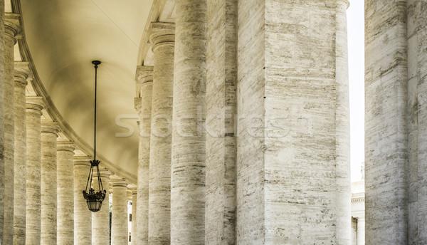 Watykan Rzym architektoniczny szczegóły niebo budynku Zdjęcia stock © deyangeorgiev