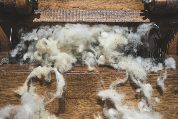 Processing of wool Stock photo © deyangeorgiev