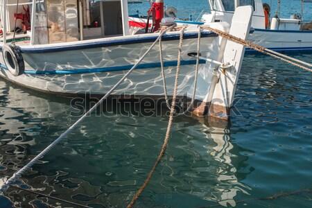 Pesca barcos Grecia día luz agua Foto stock © deyangeorgiev
