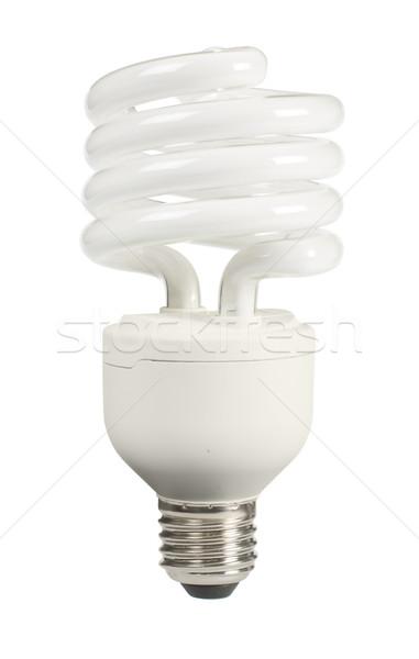 Ecológico económico lámpara blanco tecnología fondo Foto stock © deyangeorgiev