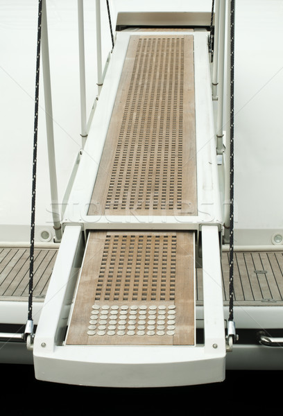 Yacht boarding ladder Stock photo © deyangeorgiev