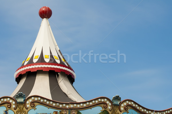 Zdjęcia stock: Wesołe · miasteczko · szczegóły · światła · różny · niebo