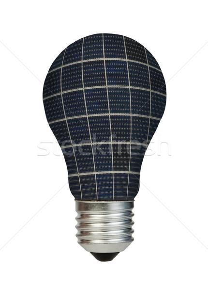 Lamp made of solar panels. Ecology conception Stock photo © deyangeorgiev