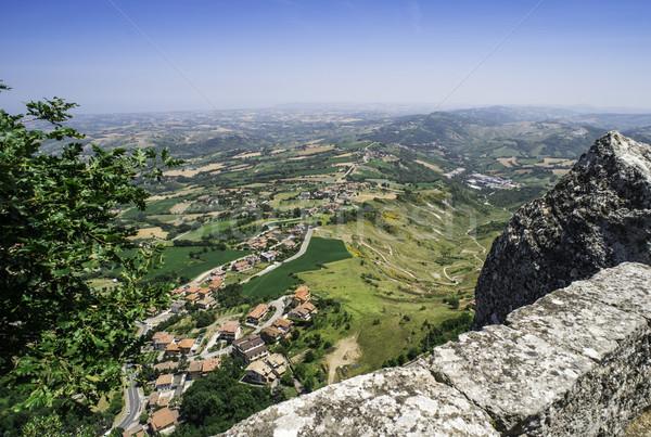 High view from San Marino Stock photo © deyangeorgiev