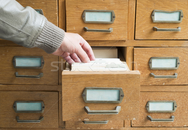 Old archive with drawers Stock photo © deyangeorgiev