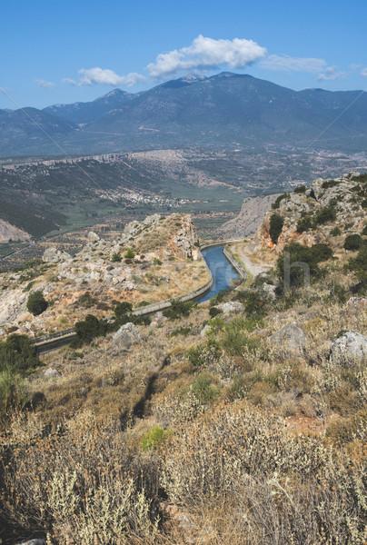 öntözés csatorna mezőgazdaság hegy Görögország étel Stock fotó © deyangeorgiev
