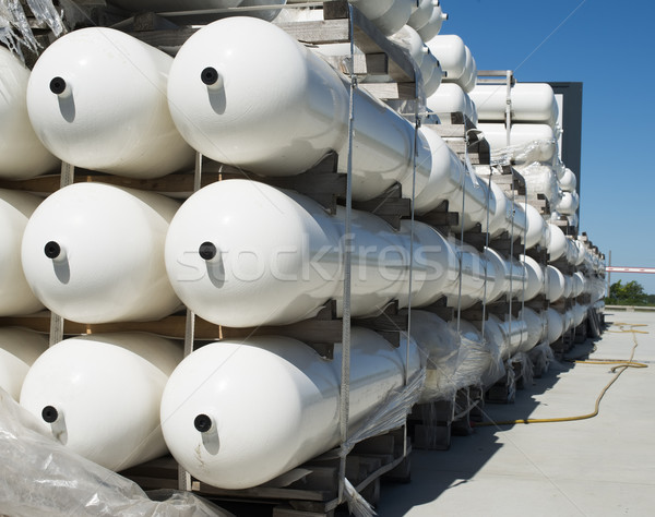 Fehér ipari üvegek földgáz fém üveg Stock fotó © deyangeorgiev