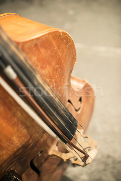 Contrabass on classical concert Stock photo © deyangeorgiev