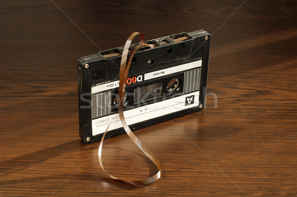 Audio tape cassette with subtracted out tape Stock photo © deyangeorgiev