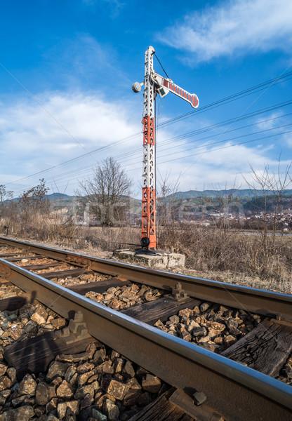 Train Semaphore Stock photo © deyangeorgiev