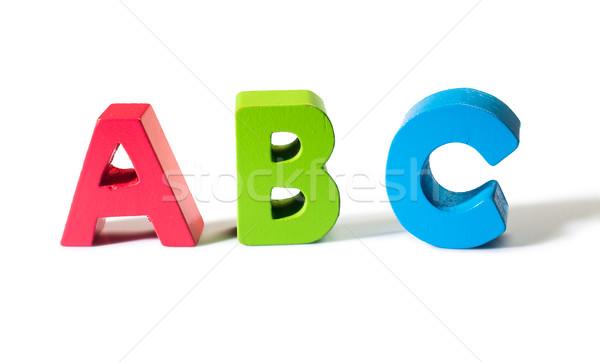 Cartas madera bebé fondo signo Foto stock © deyangeorgiev
