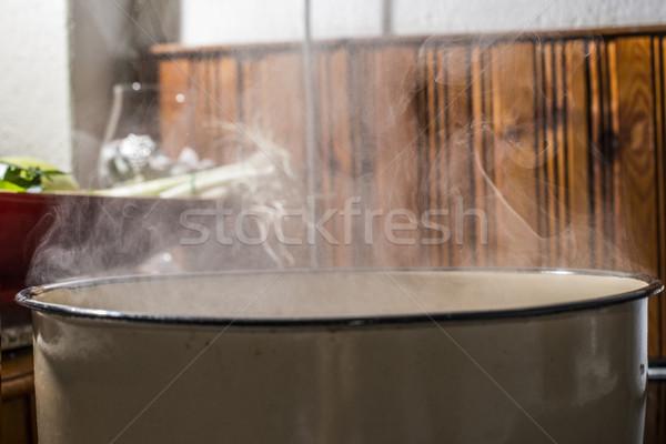 воды кастрюля Vintage кухне продовольствие фон Сток-фото © deyangeorgiev