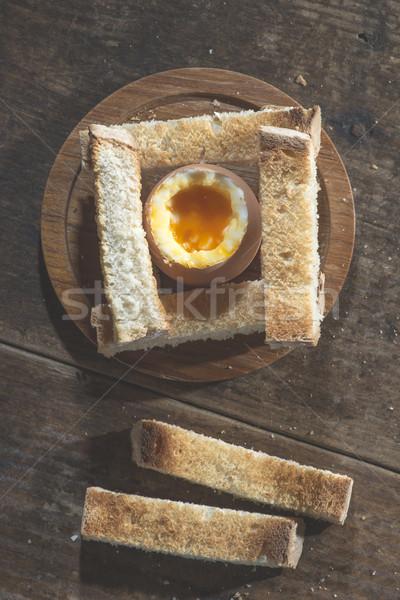 卵 朝食 表 食品 ストックフォト © deyangeorgiev
