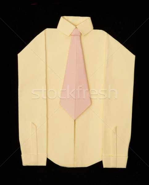 Isolated paper made shirt with long sleeves. Stock photo © deyangeorgiev