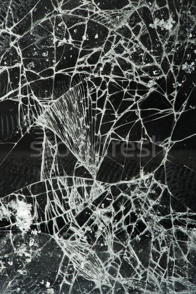 Gebroken glas textuur venster patroon Stockfoto © deyangeorgiev