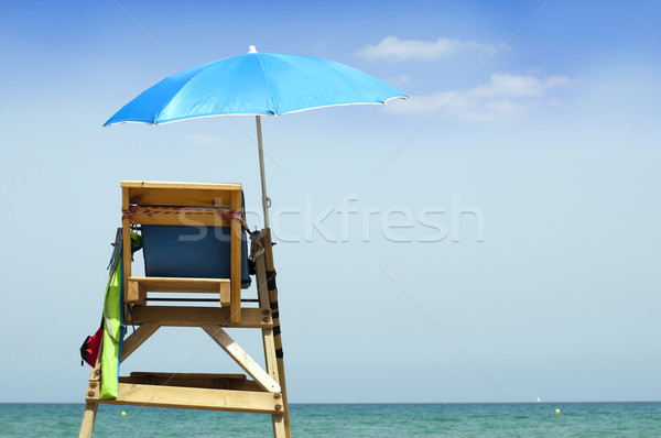 lifeguard off duty, tower observation Stock photo © deyangeorgiev
