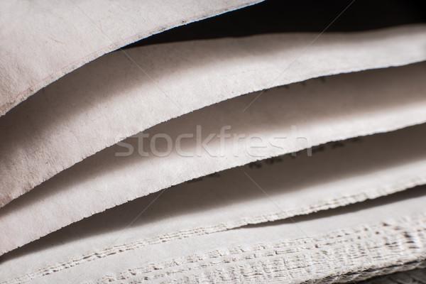 Kranten macro shot business Stockfoto © deyangeorgiev