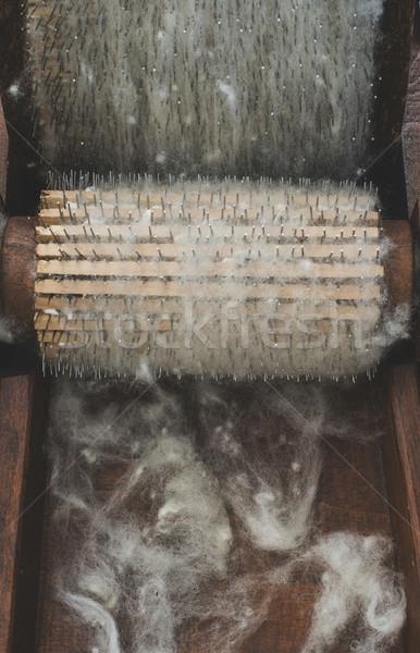 Processing of wool Stock photo © deyangeorgiev