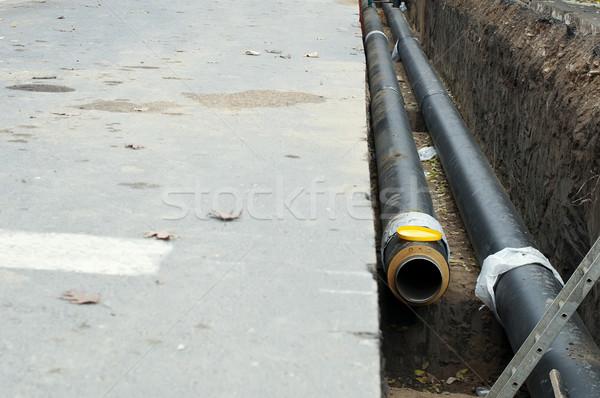 Pijpen heet water stoom verwarming stad Stockfoto © deyangeorgiev