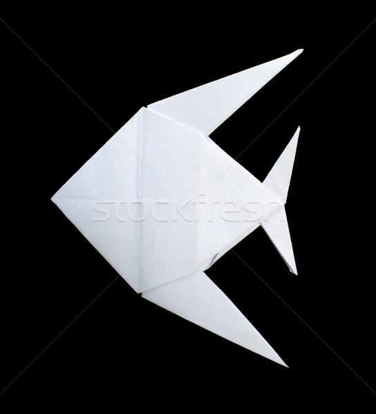 White fish folded origami  Stock photo © deyangeorgiev