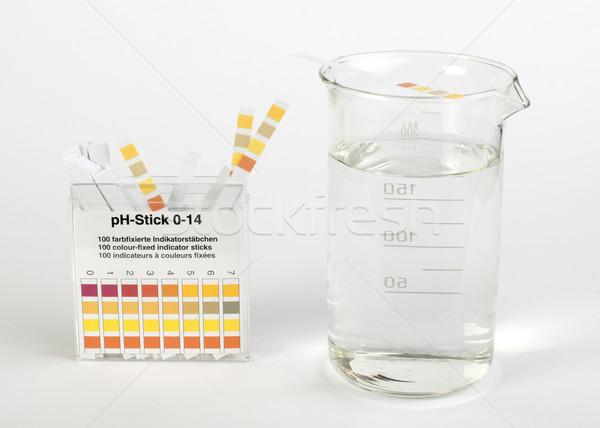 Stok fotoğraf: şeritler · ölçüm · okul · cam · sağlık · bilim