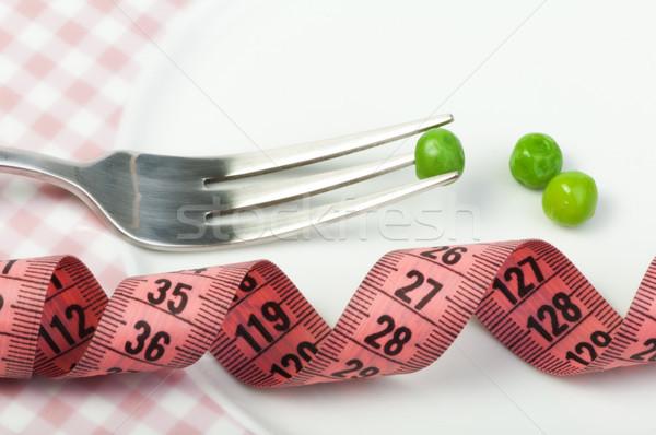 Plaque pois centimètre mesure alimentaire Photo stock © deyangeorgiev