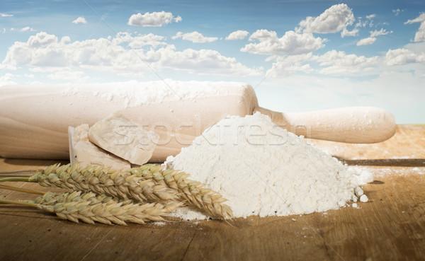 пшеницы ушки зерновых зерновые древесины области Сток-фото © deyangeorgiev