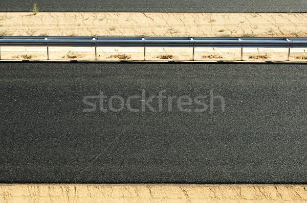 új aszfalt autópálya út fekete tájkép Stock fotó © deyangeorgiev