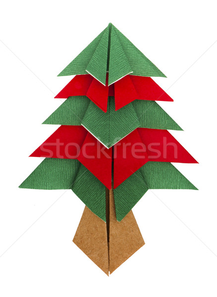 Albero di natale carta origami evergreen albero design Foto d'archivio © deyangeorgiev