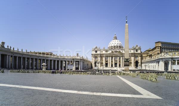 Vatikan Roma genel görmek gökyüzü Bina Stok fotoğraf © deyangeorgiev