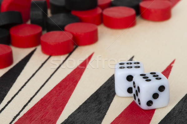 Foto stock: Negro · rojo · éxito · modelo · tiempo · dados