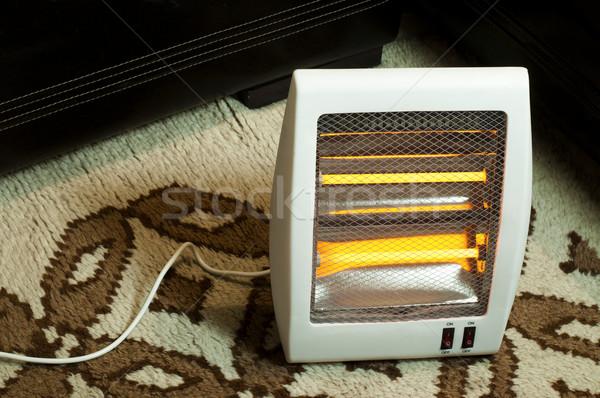 électriques chauffage halogène maison rouge lampe Photo stock © deyangeorgiev
