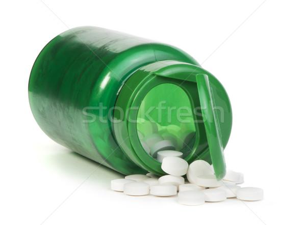 Fehér tabletták konténer stúdiófelvétel orvosi egészség Stock fotó © deyangeorgiev