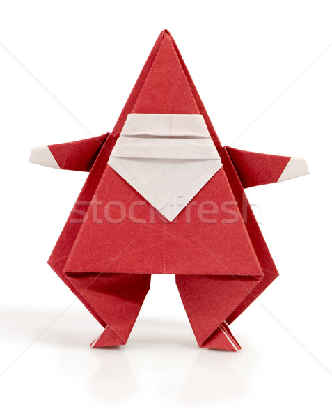 Stock photo: Santa Claus made of paper