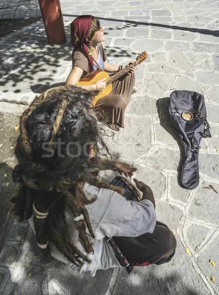 Street musicians Stock photo © deyangeorgiev