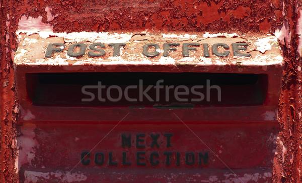 Oude Rood mailbox gibraltar stad Stockfoto © deyangeorgiev