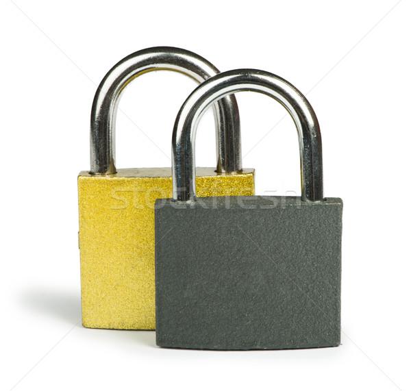 Yellow padlock isolated Stock photo © deyangeorgiev