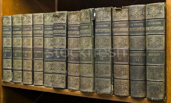 öreg könyvek polc francia lexikon könyv Stock fotó © deyangeorgiev