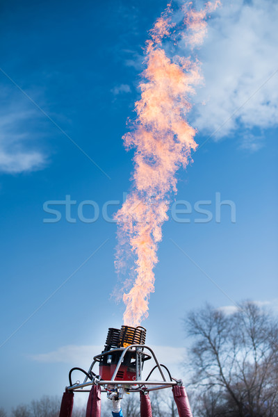 Fire from balloon flight Stock photo © deyangeorgiev