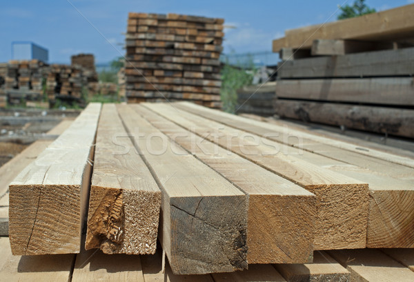 Timber. Planks and beams Stock photo © deyangeorgiev