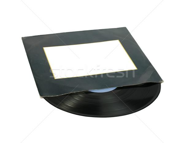 Record dekken witte geïsoleerd disco zwarte Stockfoto © deyangeorgiev