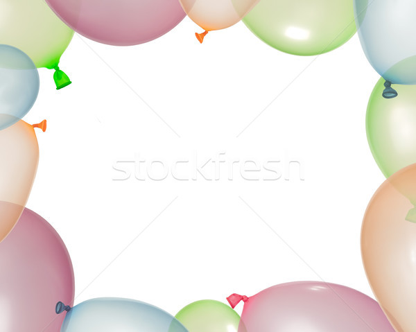 Border of inflated balloons from different colors Stock photo © deyangeorgiev