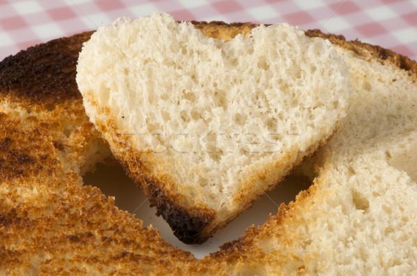 Tost ayarlamak beyaz plaka gıda sevmek Stok fotoğraf © deyangeorgiev