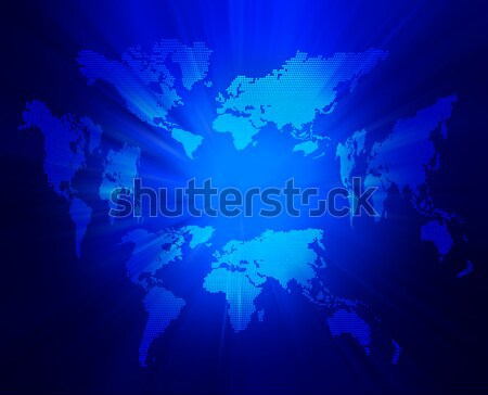 Dot World map business background Stock photo © deyangeorgiev