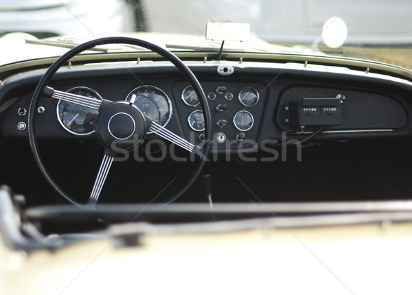 Car steering wheel and dashboard Stock photo © deyangeorgiev
