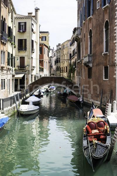 古代 建物 ボート チャンネル ヴェネツィア 家 ストックフォト © deyangeorgiev