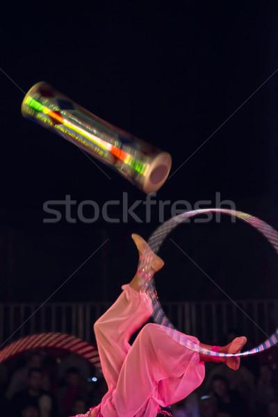 Juggler in the circus Stock photo © deyangeorgiev