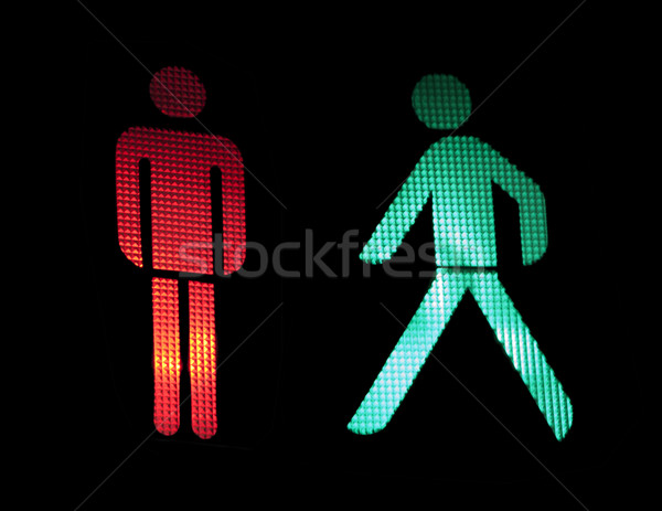 Traffic light of pedestrians Stock photo © deyangeorgiev