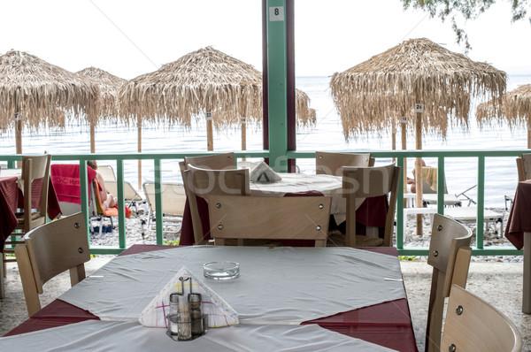 Foto stock: Grego · restaurante · típico · Grécia · praia · casa