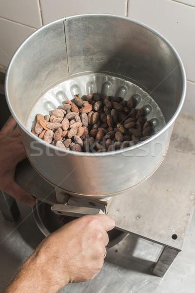 Machine for grinding cocoa.  Stock photo © deyangeorgiev